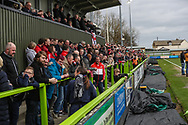 Away stand during the EFL Sky Bet League 2 match between Forest Green Rovers and Lincoln City at the New Lawn, Forest Green, United Kingdom on 2 March 2019.