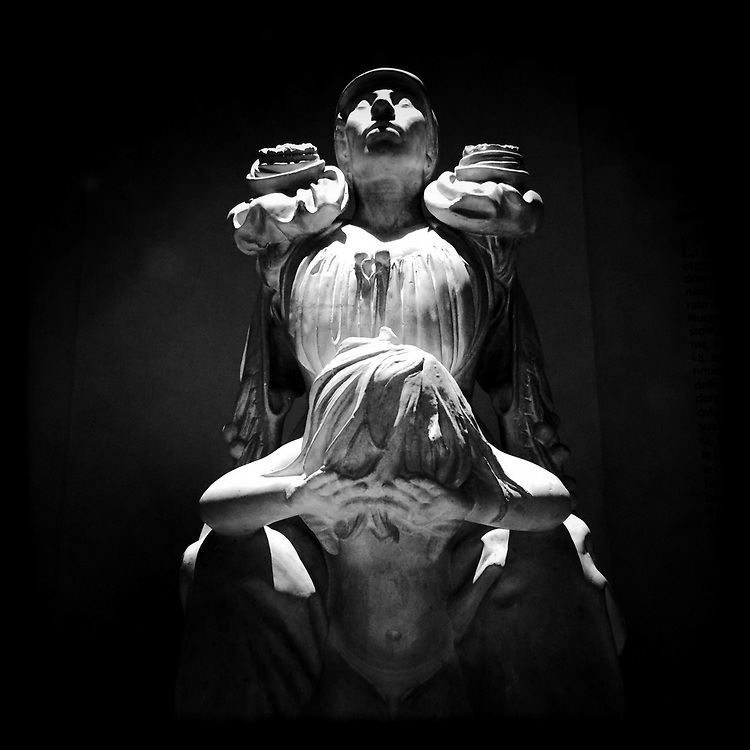 """Sardinian Soul in pain"". Plaster sculpture by Italian sculptor Francesco Ciusa exhibited at Tribu museum in Nuoro (Sardinia), Italy. 2014."
