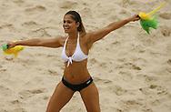 Football-FIFA Beach Soccer World Cup 2006 - Group D-Argentina - Nigeria, Beachsoccer World Cup 2006. A dancing girl - Rio de Janeiro - Brazil 02/11/2006<br /> Mandatory credit: FIFA/ Manuel Queimadelos