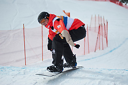 Official Training at the 2014 IPC Snowboarder-Cross World Cup, La Molina, Spain