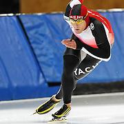 September 18, 2010 - Kearns, Utah - Christian Pichler races in long track speedskating time-trials held at the Utah Olympic Oval.