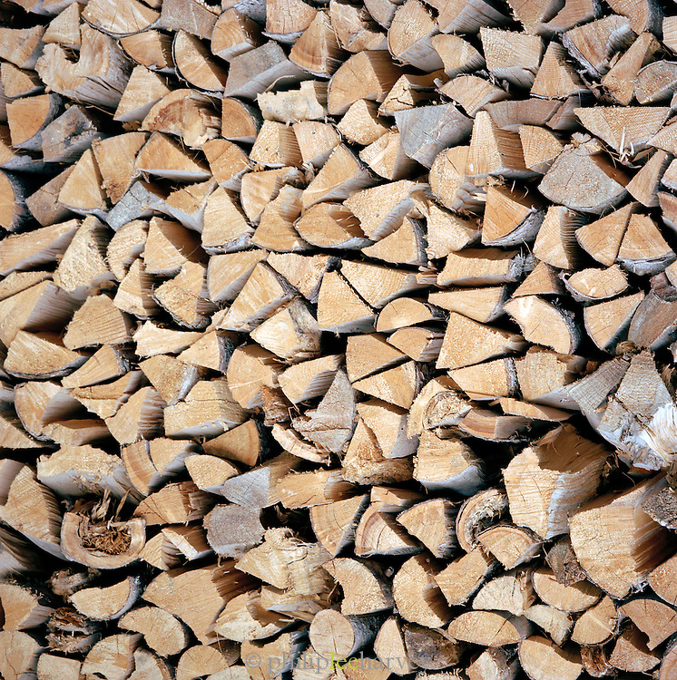 Stacked firewood, Ischgl, Austrian Tirol, Austria
