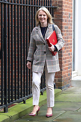 © Licensed to London News Pictures. 01/01/2019. London, UK. Liz Truss - Chief Secretary to the Treasury departs from No 10 Downing Street after attending the weekly Cabinet Meeting. Photo credit: Dinendra Haria/LNP