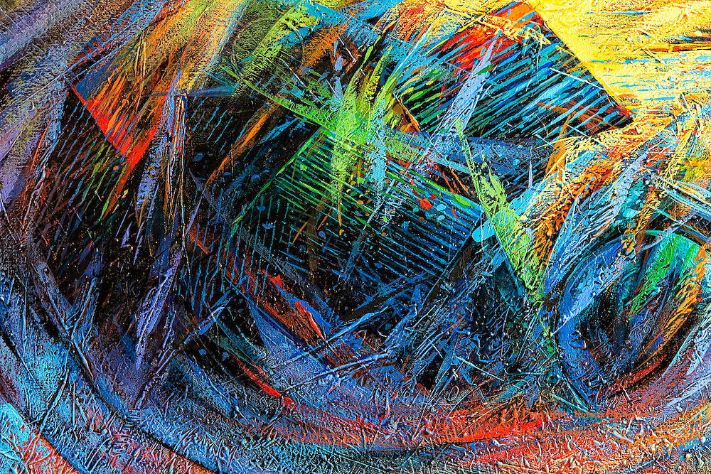 Contemporary Expressionist: This is a most colourful piece of modern contemporary expressionist art to tempt the eye, Bayamo Cuba.