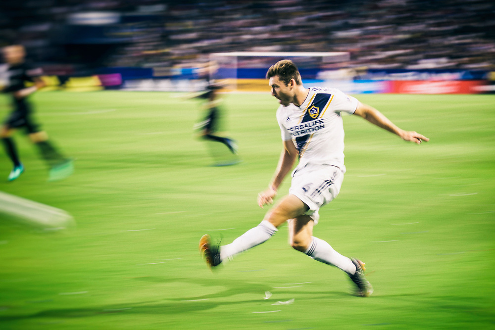 Dave Romney. Photos taken in the summer of 2018 for the LA Galaxy home games against D.C. United, Minnesote United, Colorado Rapids and LAFC. Working with head photographer Rob Mora. Major League Soccer. ©justinalexanderbartels.com