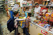 Just like their parents, Giuseppe Manzo and Piera Marretta, the two older children, Pietro and Domenico, also shop every day, loading up on snacks from the grocery next door on their way to school. Backpacks bulging, they cross the street to their father's store to kiss him good-bye before heading off. Hungry Planet: What the World Eats (p. 178). The Manzo family of Palermo, Sicily, is one of the thirty families featured, with a weeks' worth of food, in the book Hungry Planet: What the World Eats.