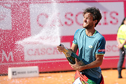 May 6, 2018 - Estoril, Portugal - Joao Sousa of Portugal celebrates after winning the Millennium Estoril Open ATP 250 tennis tournament final against Frances Tiafoe of US, at the Clube de Tenis do Estoril in Estoril, Portugal on May 6, 2018. (Credit Image: © Pedro Fiuza via ZUMA Wire)