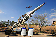 Israel, Hazirim, near Beer Sheva, Israeli Air Force museum. The national centre for Israel's aviation heritage. Anti-aircraft surface-to-air missiles. Russian SA-2 Guideline