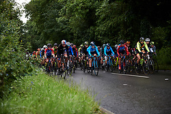 The peloton all together at Stage 4 of 2019 OVO Women's Tour, a 158.9 km road race from Warwick to Burton Dassett, United Kingdom on June 13, 2019. Photo by Sean Robinson/velofocus.com