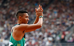 South Africa's Wayde Van Niekerk before the Men's 400m heat two during day two of the 2017 IAAF World Championships at the London Stadium. PRESS ASSOCIATION Photo. Picture date: Saturday August 5, 2017. See PA story ATHLETICS World. Photo credit should read: Martin Rickett/PA Wire. RESTRICTIONS: Editorial use only. No transmission of sound or moving images and no video simulation.
