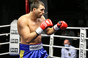 BOXEN: EC Boxing, Schwergewicht, Hamburg, 31.10.2020<br /> Viktor Faust - Yakub Saglam<br /> © Torsten Helmke