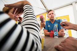 July 4, 2018 - Gelendzhik, Russia - 180704 Assistant coach Peter Wettergren of the Swedish national football team in the mixed zone during the FIFA World Cup on July 4, 2018 in Gelendzhik..Photo: Petter Arvidson / BILDBYRN / kod PA / 92081 (Credit Image: © Petter Arvidson/Bildbyran via ZUMA Press)