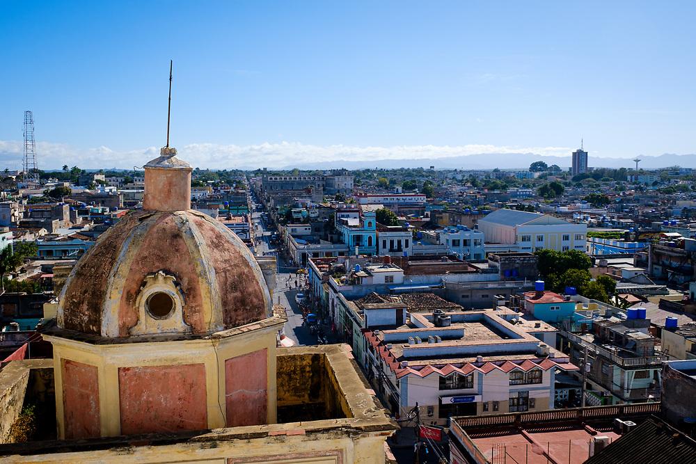 CIENFUEGOS, CUBA - CIRCA JANUARY 2020: Rooftops of Cienfuegos