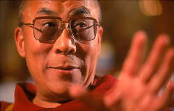 """The 14th Dalai Lama speaks during an interview at his home in Dharamsala, India, where he lives in exile. The Dalai Lama was awarded the 1989 Nobel Peace Prize. The Nobel Committee emphasized """"that the Dalai Lama, in his struggle for the liberation of Tibet, consistently has opposed the use of violence. He has instead advocated peaceful solutions based upon tolerance and mutual respect in order to preserve the historical and cultural heritage of his people."""" (Photo © Jock Fistick)"""