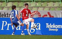 Zoran Zeljkovic (14) of Interblock  vs Tim Lo Duca (17) of Nafta  at 7th Round of PrvaLiga Telekom Slovenije between NK Interblock vs NK Nafta Lendava, on September , 2008, in ZAK stadium in Ljubljana, Slovenia. Interblock won the match 3:1. (Photo by Vid Ponikvar / Sportal Images)