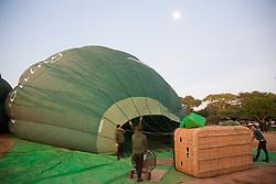 Prepping For Hot Air Ballooning Over Bagan