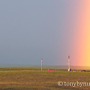 a rainbow ends oil drilling rig blackfeet reservation conservation photography - blackfeet oil