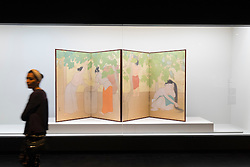 Modern Japanese screen painting on display at National Museum of  Modern Art  in Tokyo