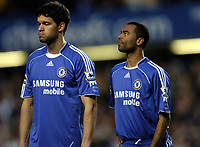Photo: Olly Greenwood.<br />Chelsea v Arsenal. The Barclays Premiership. 10/12/2006. Chelsea's Michael Ballack and Ashley Cole