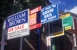 For sale signs,