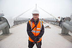 Matt on the bridge. The media preview day for the Queensferry Crossing held on Tuesday 22 August. !!! NOTE strictly embargoed until 00:01am on Sunday 27 August.