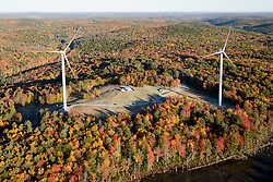 Colebrook South Wind Project. BNE Energy, Owner and The Ryan Company, Contractor. Aerial View from Helicopter. 15 October 2015