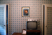 A portrait of John F. and Robert F. Kennedy hangs in a house listed for sale in Evanston on Wednesday, Sept. 19, 2012.