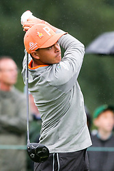 September 10, 2018 - Newtown Square, Pennsylvania, United States - Rickie Fowler tees off the 10th hole during the final round of the 2018 BMW Championship. (Credit Image: © Debby Wong/ZUMA Wire)