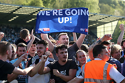 Free to use courtesy of Sky Bet, Wycombe Wanderers fans celebrate their club being promoted to League One - Mandatory by-line: Jason Brown/JMP - 05/05/2018 - FOOTBALL - Adam's Park - High Wycombe, England - Wycombe Wanderers v Stevenage - Sky Bet League Two