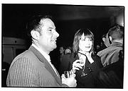 Dereck hatton, fiona allen, channel 5 party, holburn studios, eagle wharf rd. London N1 5 nov 96© Copyright Photograph by Dafydd Jones 66 Stockwell Park Rd. London SW9 0DA Tel 020 7733 0108 www.dafjones.com