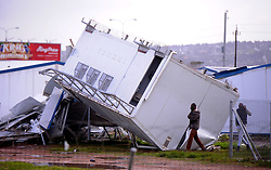 South Africa - Cape Town - 13 July 2020 - Nomzamo High School in Strand is closed after strong winds destroyed five classrooms and all toilet facilities. Photographer Ayanda Ndamane African News Agency (ANA)