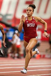 Don Kirby Invitational Indoor Track & Field<br /> Albuquerque, NM, Feb 14, 2020<br /> womens 60m heats, Washington State