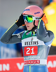 06.01.2015, Paul Ausserleitner Schanze, Bischofshofen, AUT, FIS Ski Sprung Weltcup, 63. Vierschanzentournee, Finale, im Bild Dawid Kubacki (POL) // Dawid Kubacki of Poland reacts after his first Final Jump of 63rd Four Hills Tournament of FIS Ski Jumping World Cup at the Paul Ausserleitner Schanze, Bischofshofen, Austria on 2015/01/06. EXPA Pictures © 2015, PhotoCredit: EXPA/ Johann Groder