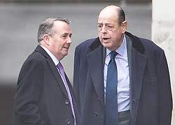 DATE CORRECTION © Licensed to London News Pictures. 15/01/2019. London, UK Trade Secretary Liam Fox (L) talks with Sir Nicholas Soames at Parliament on the day that MP's will vote on British Prime Minster Theresa May's proposed withdrawal agreement with the European Union. Photo credit: Peter Macdiarmid/LNP
