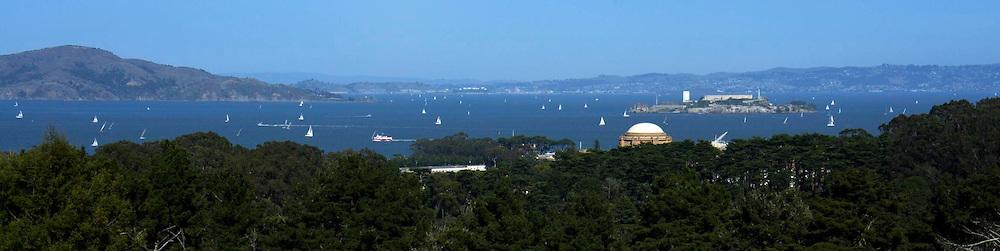 San Francisco Presidio Skyline, Marina District and Bay