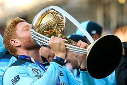 Jonny Bairstow of England celebrates winning The Cricket World Cup - Mandatory by-line: Robbie Stephenson/JMP - 14/07/2019 - CRICKET - Lords - London, England - England v New Zealand - ICC Cricket World Cup 2019 - Final