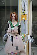 Julie Verhoeven, Julie Verhoeven's exhibition at the Economist Plaza. London 18 July 2006. ONE TIME USE ONLY - DO NOT ARCHIVE  © Copyright Photograph by Dafydd Jones 66 Stockwell Park Rd. London SW9 0DA Tel 020 7733 0108 www.dafjones.com