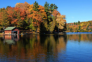 fall in Lake Meech, Gatineau Park, Quebec, Canada