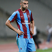 Trabzonspor's Burak YILMAZ during their UEFA Champions League third qualifying round, second leg, soccer match Trabzonspor between Benfica at the Ataturk Olimpiyat Stadium at İstanbul Turkey on Wednesday, 03 August 2011. Photo by TURKPIX