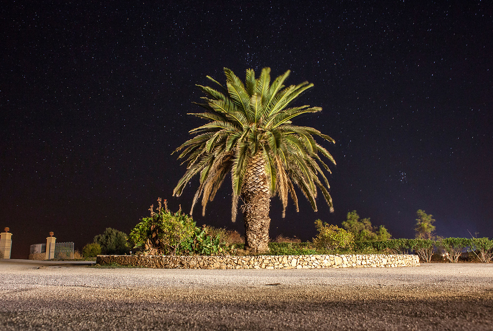 Empty parking lot of a vacation resort on the northern shores of Lesvos.