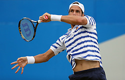 Spain's Feliciano Lopez in action against Bulgaria's Grigor Dimitrov during day six of the 2017 AEGON Championships at The Queen's Club, London.