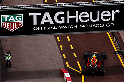 May 24, 2018 - Montecarlo, Monaco - 33 Max Verstappen Max from Netherlands Aston Martin Red Bull Tag Heuer RB14 behind a TahHeuer banner during the Monaco Formula One Grand Prix  at Monaco on 24th of May, 2018 in Montecarlo, Monaco. (Credit Image: © Xavier Bonilla/NurPhoto via ZUMA Press)