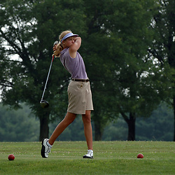 07/06/05- DelCastle, DE - DWGA WIE <br />Christine Shimel watching her shot. She goes on to win the Delaware Women's Golf Association Junior Amateur at the Del Castle Golf Course on July 6, 2005.  Special to the News Journal/Julia Robertson