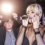 Singer Hatty Keane preforms at the Supermodel UK glamour Model of the Year 2016 at DSTRKT on 23rd November 2016 in London,UK. Photo by See Li