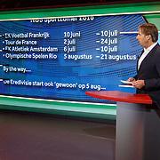 NLD/Hilversum/20160526 - perspresentaties NOS Sportzomer 2016, EK Voetbal & Tour de France, Maarten Nooter