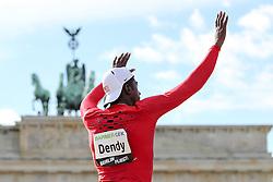 "05.09.2015, Brandenburger Tor, Berlin, GER, Leichtathletik Meeting, Berlin fliegt, im Bild Marquis Dendy (USA) // during the Athletics Meeting ""Berlin flies"" at the Brandenburger Tor in Berlin, Germany on 2015/09/05. EXPA Pictures © 2015, PhotoCredit: EXPA/ Eibner-Pressefoto/ Fusswinkel<br /> <br /> *****ATTENTION - OUT of GER*****"