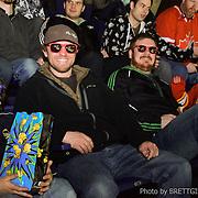 "Photos of the ConnecTeen - Calgary Hitmen ""Face In The Crowd"" contest at the Calgary Saddledome hockey arena."