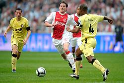 25-04-2010 VOETBAL: AJAX - FEYENOORD: AMSTERDAM<br /> De eerste wedstrijd in de bekerfinale is gewonnen door Ajax met 2-0 / Jan Vertonghen en Andre Bahia<br /> ©2009-WWW.FOTOHOOGENDOORN.NL