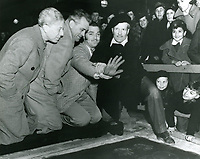 1937 Clark Gable's ceremony at the Chinese Theater, Sid Grauman at left