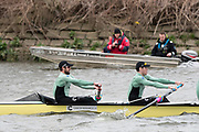 Hammersmith, GREATER LONDON. United Kingdom Cambridge University  Boat  Club, Pre Boat Race Fixture CUBC vs ITA M8+ for the 2017 Boat Race The Championship Course, Putney to Mortlake on the River Thames.<br /> <br /> Saturday  18/03/2017<br /> <br /> [Mandatory Credit; Peter SPURRIER/Intersport Images]<br /> CUBC<br /> <br /> [R-L]  Freddie Davidson and  Ben Ruble